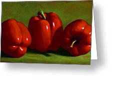 Red Peppers Greeting Card