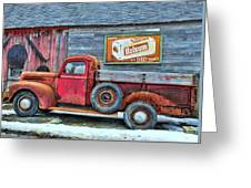 Red Pick Up Greeting Card
