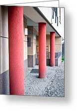 Red Pillars Greeting Card