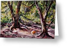 Red Pines Floater Greeting Card