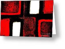 Red Plaid Greeting Card by Marsha Heiken