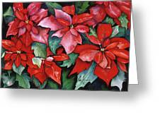 Red Poinsettias Greeting Card