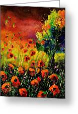 Red Poppies 451130 Greeting Card