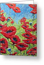 Red Poppies By Prankearts Greeting Card