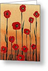 Red Poppies Decorative Art Greeting Card