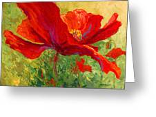 Red Poppy I Greeting Card