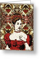 Red Queen Baroque Greeting Card