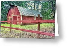Red Rail Barn Greeting Card