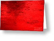 Red Rain Droplets Greeting Card