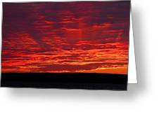 Red Ray Sunset Greeting Card