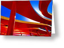 Red Ride Blue Sky Greeting Card