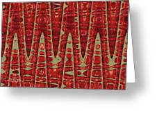 Red Ripe Pomagranite Abstract Greeting Card