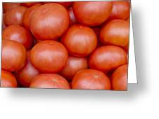 Red Ripe Tomatoes Greeting Card by John Trax