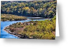 Red River Bend Greeting Card
