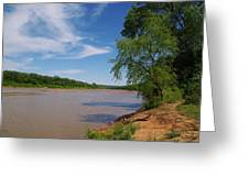 Red River Gainesville Texas East Greeting Card