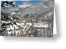 Red River In Winter Greeting Card
