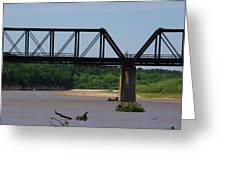 Red River Railroad Crossing Greeting Card