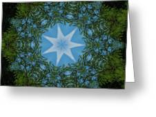 Red River Star Kaleidoscope 1 Greeting Card