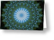 Red River Star Kaleidoscope 2 Greeting Card