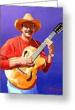 Red River Troubador Greeting Card