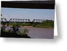 Red River Truss Bridge Greeting Card