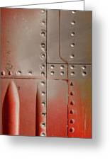 Red Rivets Greeting Card