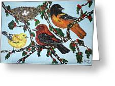 Red Robins Greeting Card
