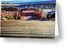 Red Rock Amphitheater Greeting Card