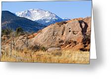 Red Rock And Pikes Peak Greeting Card