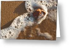 Red Rock And Surf Greeting Card