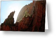 Red Rock At Zion Greeting Card