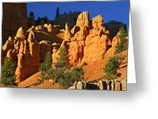 Red Rock Canoyon At Sunset Greeting Card