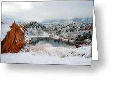 Red Rock Canyon In Winter 2 Greeting Card