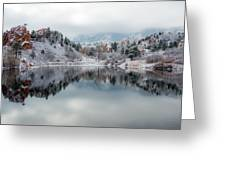 Red Rock Canyon In Winter Greeting Card