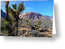 Red Rock Canyon Joshua Tree 2 Greeting Card