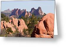 Red Rock Canyon Open Space Park And Garden Of The Gods Greeting Card