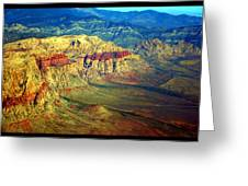 Red Rock Canyon Poster Print Greeting Card