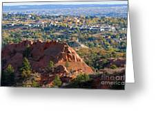 Red Rock Canyon Rock Quarry And Colorado Springs Greeting Card