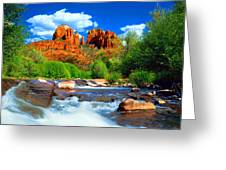 Red Rock Crossing Greeting Card