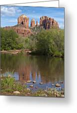 Red Rock Crossing In Sedona Greeting Card by Sandra Bronstein