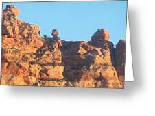 Red Rock Easter Island Greeting Card