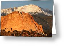 Red Rock Greeting Card by Eric Glaser