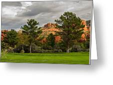 Red Rock Fairway Greeting Card