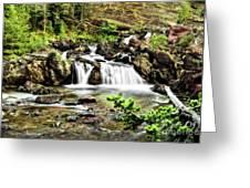 Red Rock Falls, Glacier National Park, Montana Greeting Card