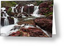 Red Rock Falls Greeting Card