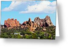 Red Rock Formations Greeting Card
