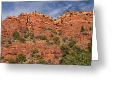 Red Rock Keyhole Greeting Card
