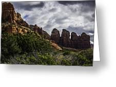 Red Rock Landscape From Sedona Arizona Greeting Card