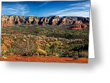 Red Rock Pano Greeting Card