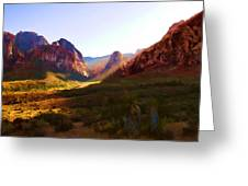 Red Rock Rays Greeting Card